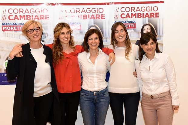 Moretti,-Pinotti,-Boschi,-Madia,-Serracchiani