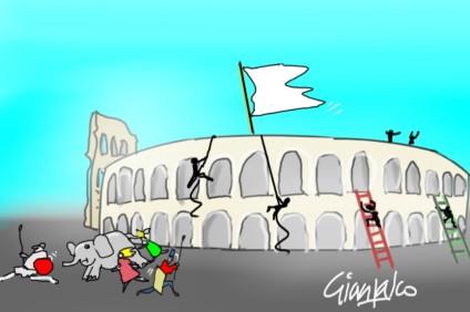 assalto all'Arena di Verona