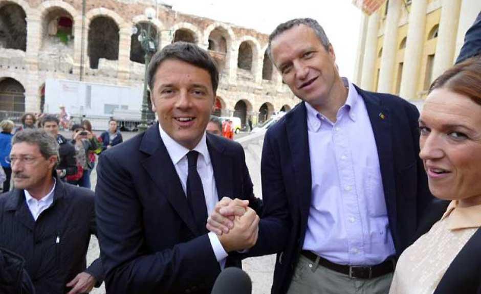 Matteo Renzi, Flavio Tosi, Alessia Rotta