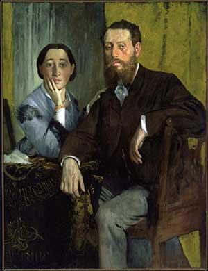 Edmondo e Therese Morbilli (Edgar Degas, 1867)