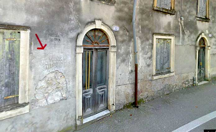 "La scritta ""Vota Todeschini"" in via Lanificio a Montorio (Verona)"