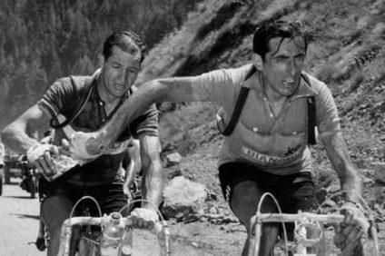 Da sinistra Gino Bartali e Fausto Coppi