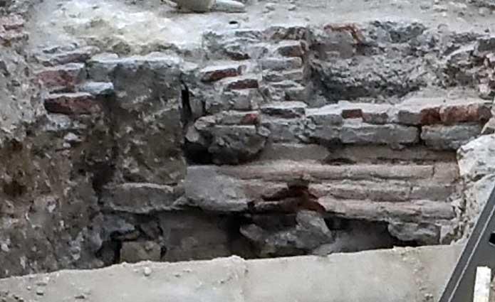 Il muro venuto alla luce a Santo Stefano