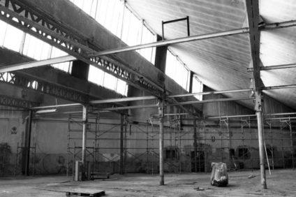 L'ex lanificio Tiberghien prima della demolizione