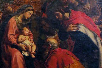Adorazione dei Magi, 1620, Alessandro Turchi, detto l'Orbetto, Museo di Castelvecchio, Verona, particolare