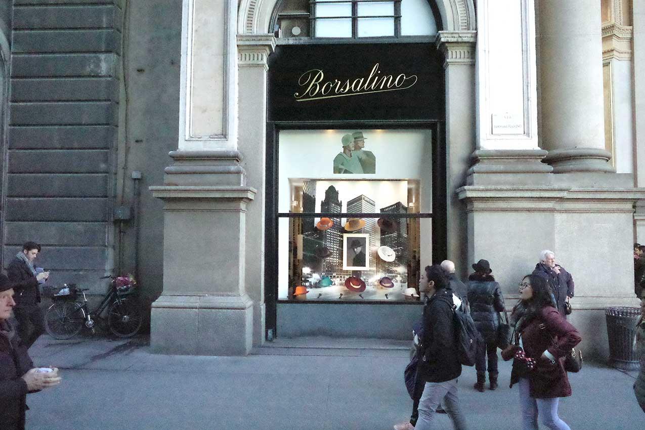 Borsalino a Milano (Foto Arch.)