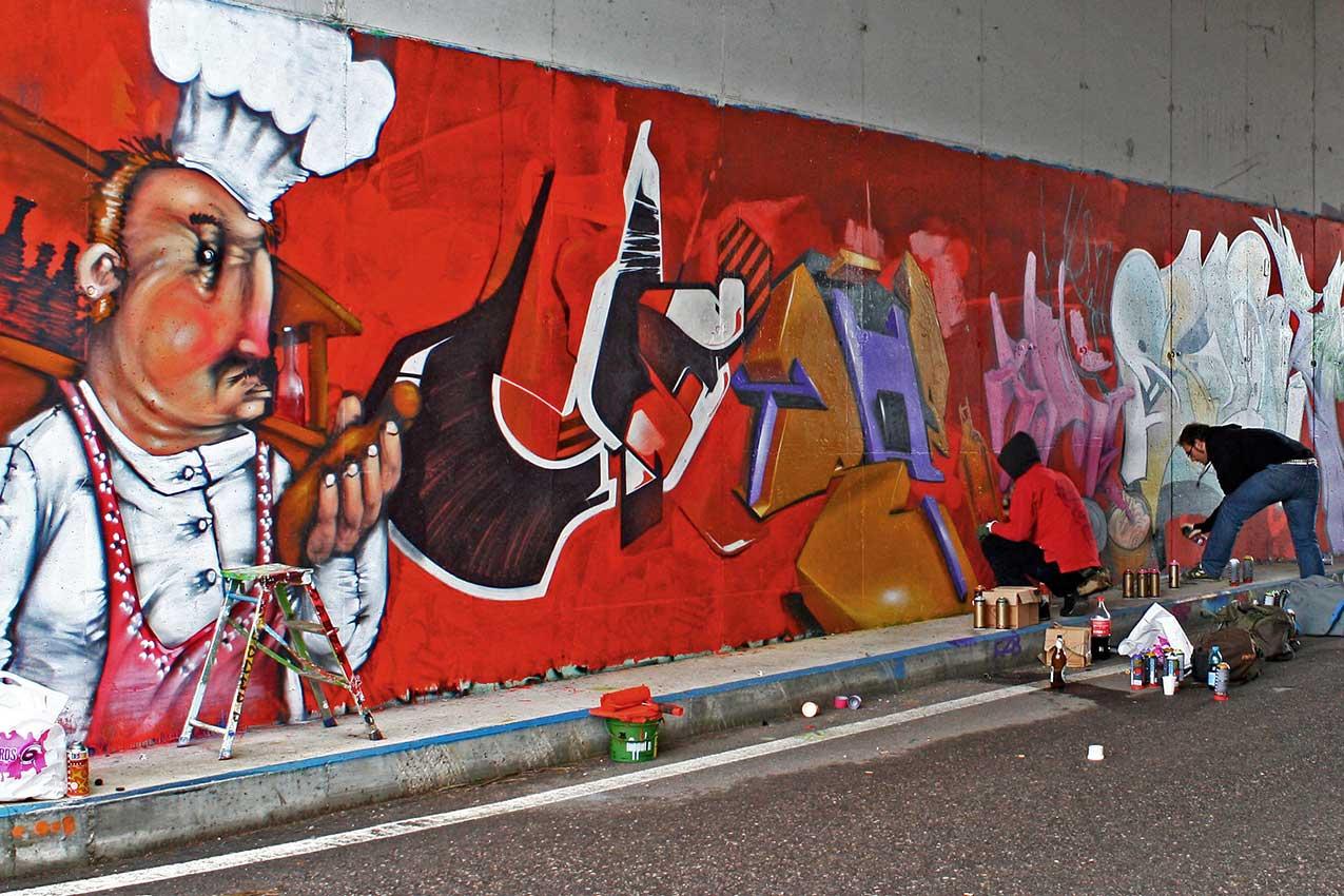 Arte o vandalismo, i colori del writing sui muri della città