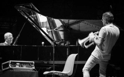 2018-06-20, Verona, Teatro romano, Festival jazz, Paolo Fresue e Chano Dominguez (foto Beltrame)