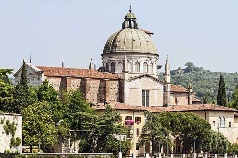 La cupola di San Giorgio prima dell'intervento di restauro, Verona