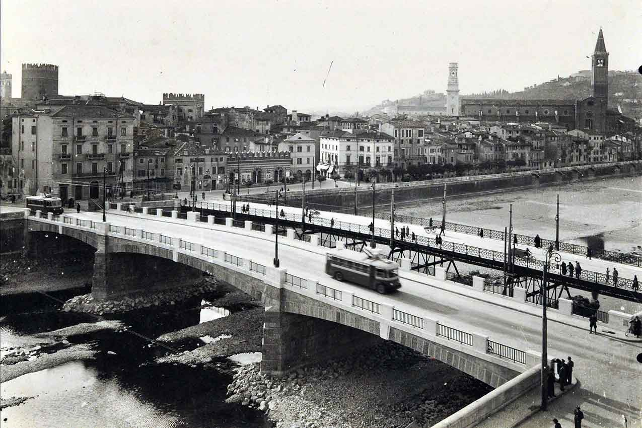 Ponte Nuovo, Verona (foto Biblioteca Civica)