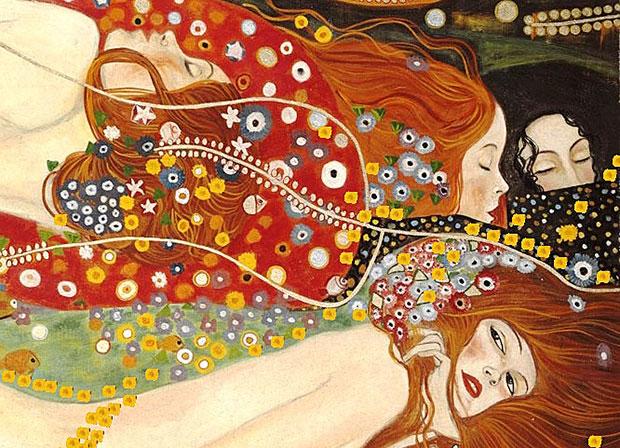 Le-donne-di-Klimt-in-un-affresco-realizzato-dagli-artisti-di-Mariani