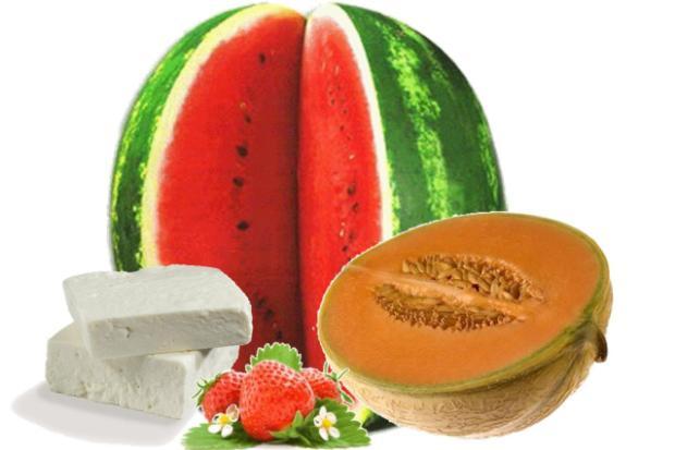 Anguria feta fragole melone