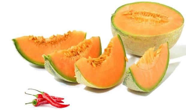 Melone e peperoncino