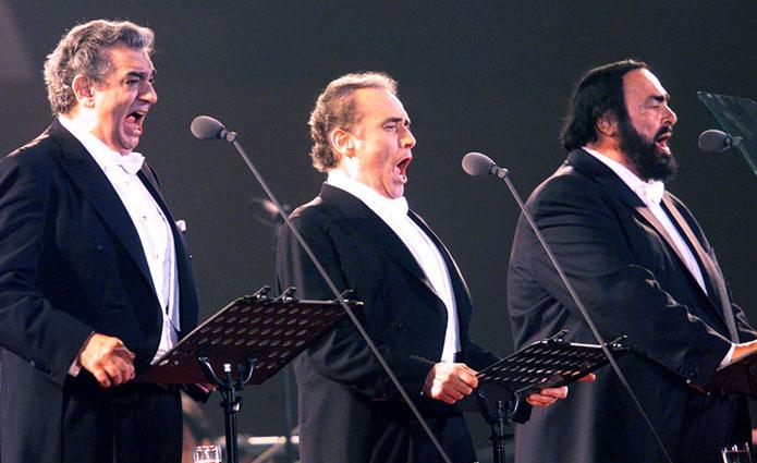 José Carreras, Placido Domingo e Luciano Pavarotti.