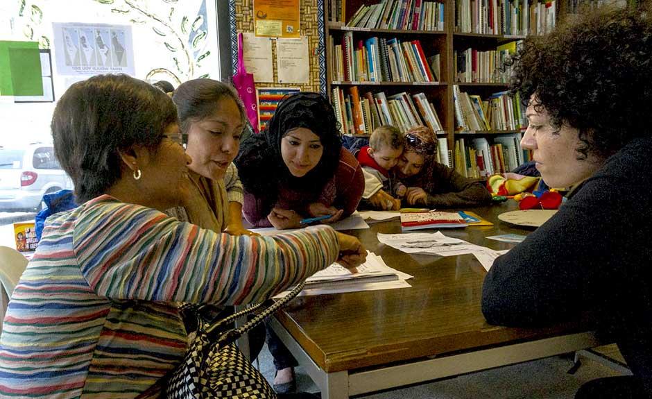 Immigrati lezione italiano