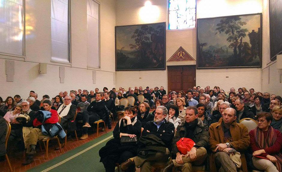 Il pubblico in sala all'Istituto Agli Angeli per la presentazione di VeronaPolis