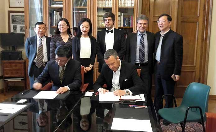 La firma del protocollo di collaborazione tra le città di Verona e quella di Suzhou