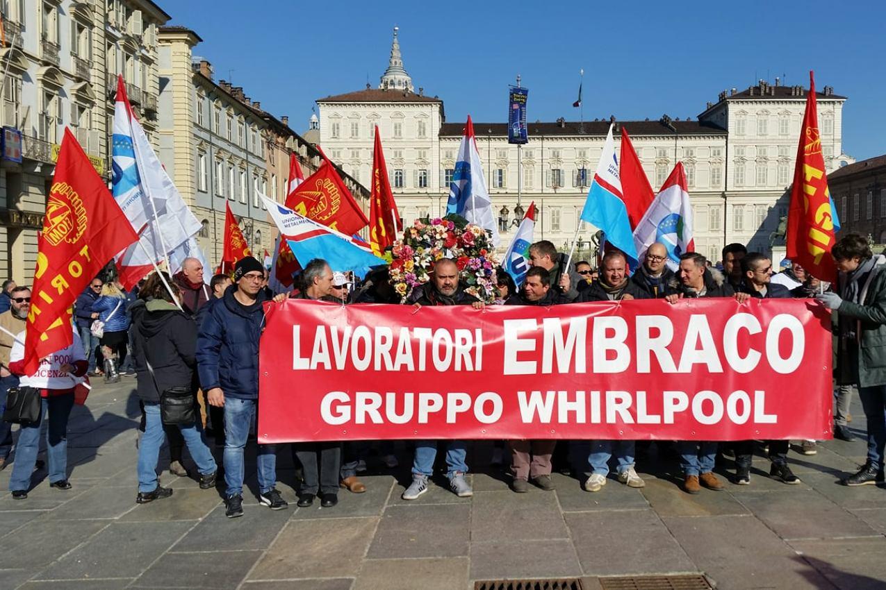 Manifestazione lavoratori Embraco