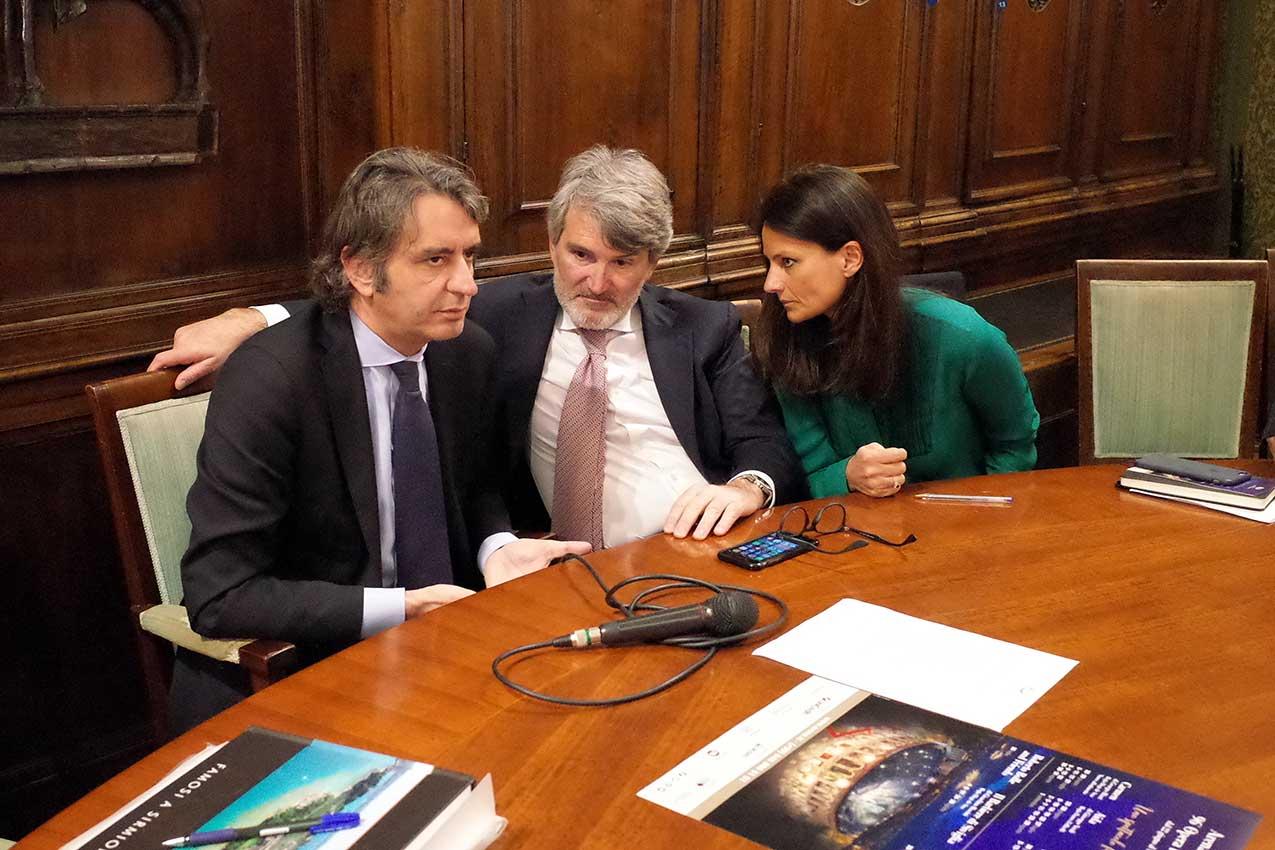 Federico Sboarina, Gianfranco De Cesaris, Francesca Tartarotti (foto Verona In)
