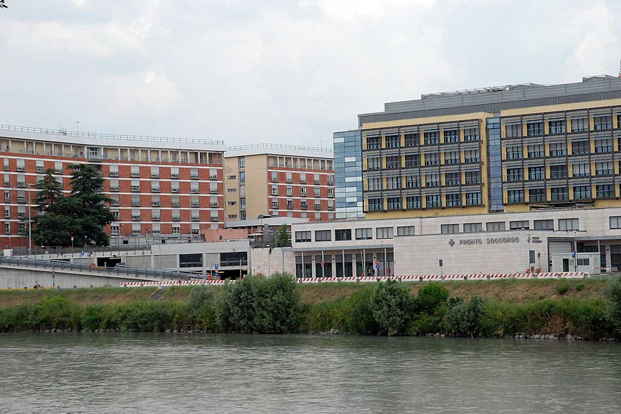 L'ospedale di Borgo Trento a Verona (foto Verona In)