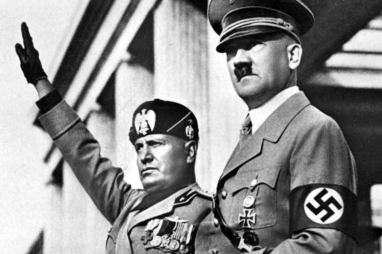 Benito Mussolini, Adolf Hitler