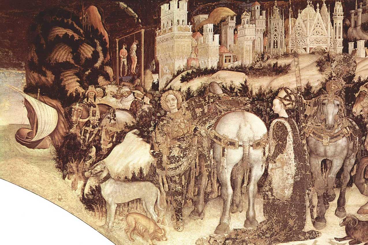 Foto in alto:San Giorgio e la principessa, Pisanello, 1433-1438, Santa Anastasia, Verona.