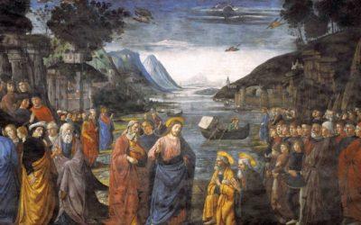 Vocazione dei primi apostoli, Ghirlandaio, Cappella Sistina (1481)