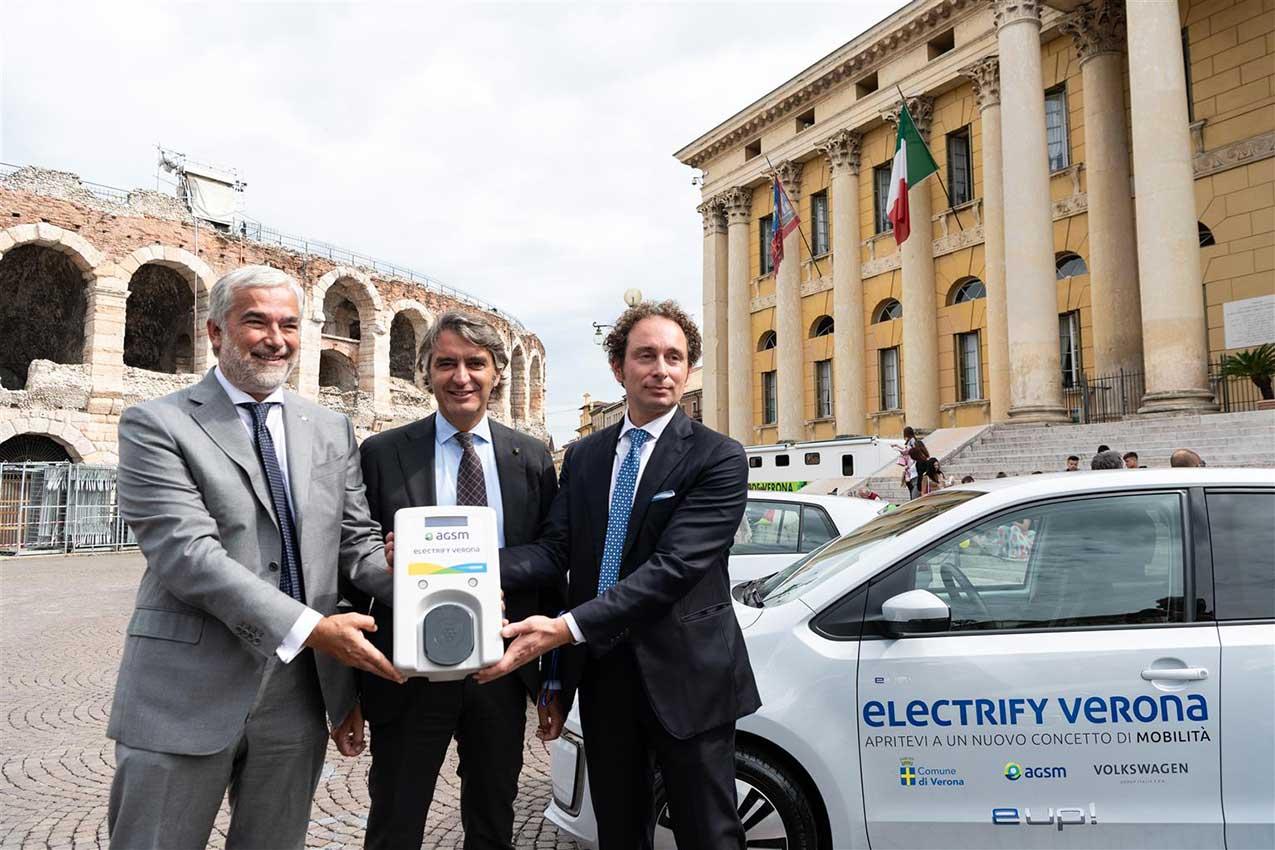 Massimo Nordio, Federico Sboarina, Michele Croce presentano Electrify Verona