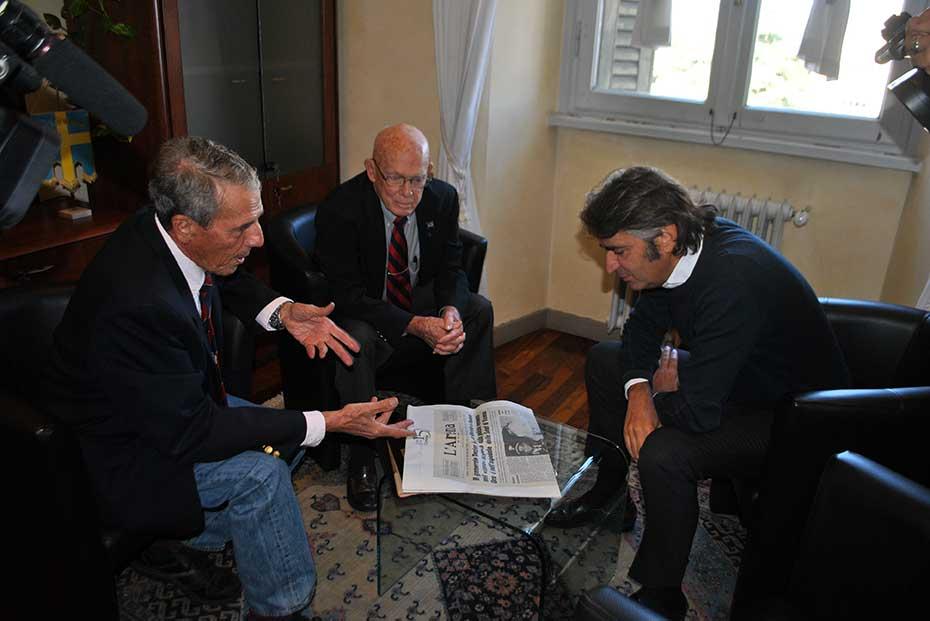 James Lee Dozier con il sindaco Fedeico Sboarina