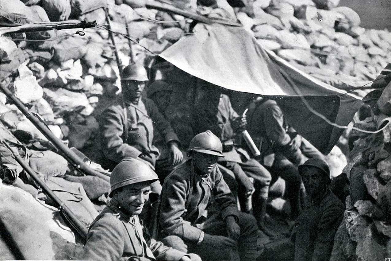 Prima guerra mondiale, soldati sul Carso