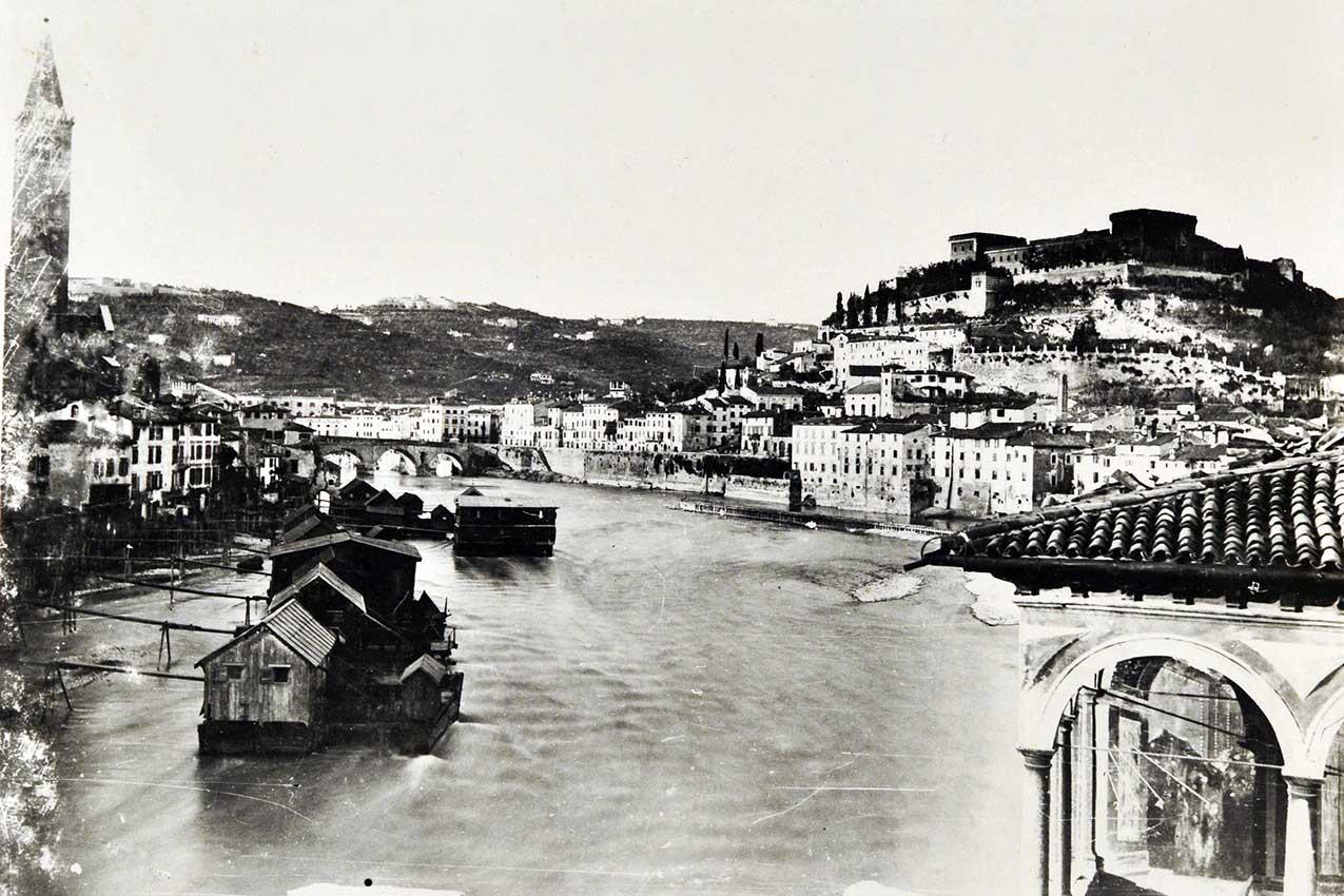 Mulini sull'Adige a Verona, seconda metà dell'Ottocento