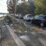 Parcheggio sulla strada alzaia a ridosso di Ponte Catena