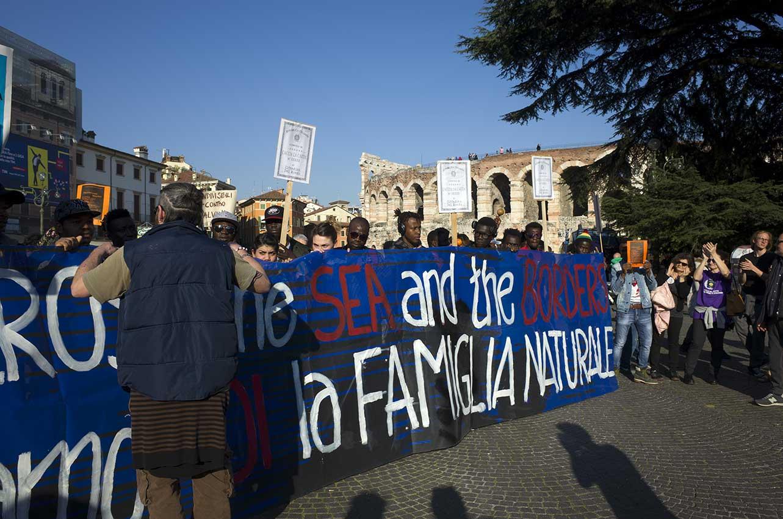 2018-03-23, Verona, manifestazione contro il razzismo