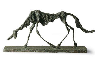 Il cane, Alberto Giacometti, 1951. Bronzo, cm 47x100x15, Saint Paul de Vence, Fondation Marguerite, © Claude Germain - Archives Fondation Maeght (France) © Alberto Giacometti Estate : by SIAE in Italy 2019