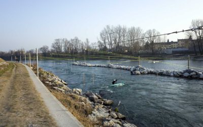 Percorso slalom Canoa Club sull'Adige