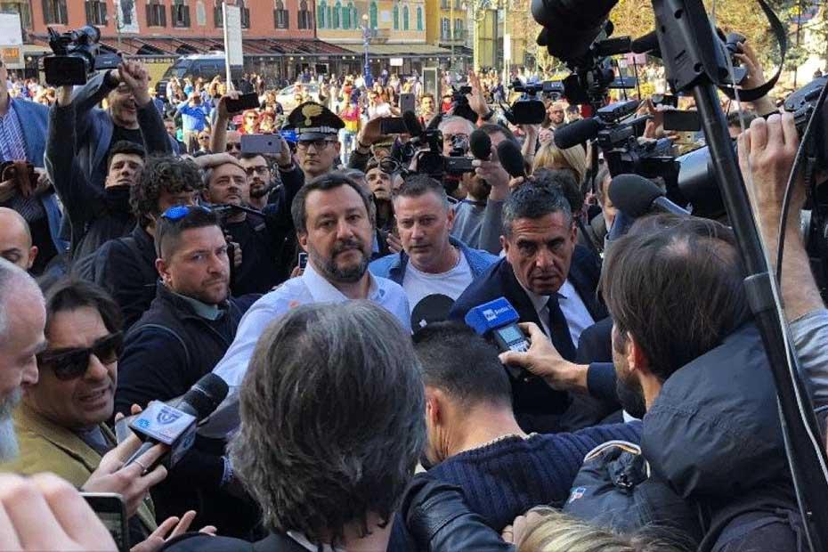 Matteo Salvini al Wfc di Verona