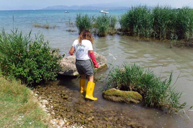 Goletta dei laghi, Castelnuovo del Garda, foce Rio Dugale