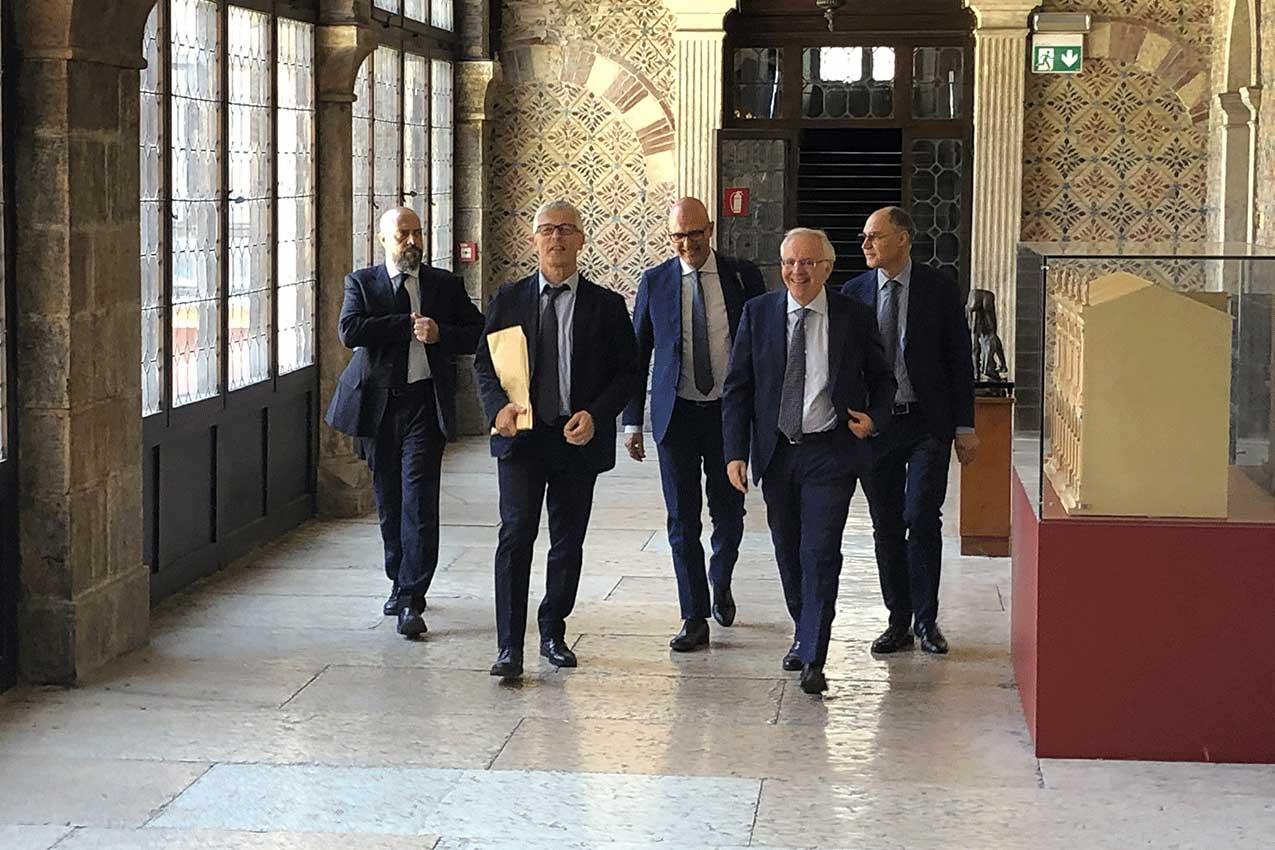 In primo piano Nicola Morra, Donato Giovanni Cafagna