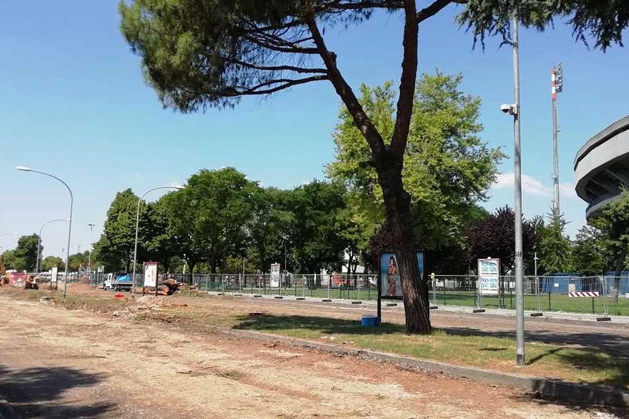 Cantiere di via Fra Giocondo, zona Stadio (Verona)