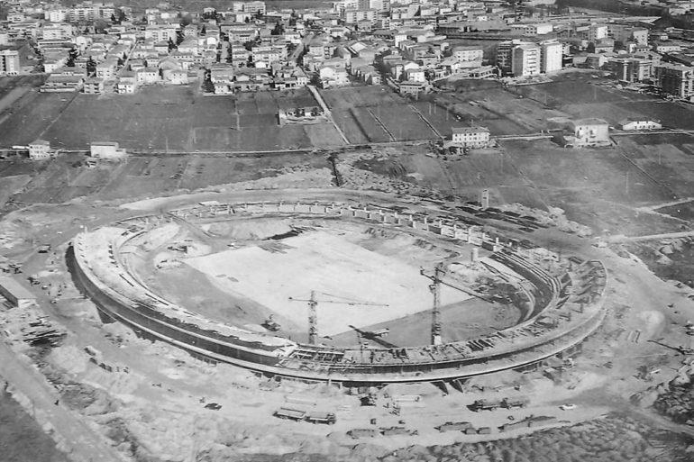 La costruzione dell'attuale stadio Marcantonio Bentegodi, inaugurato nel 1963