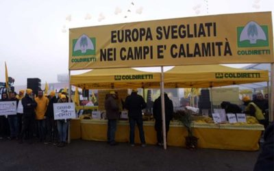 La protesta di Coldiretti.
