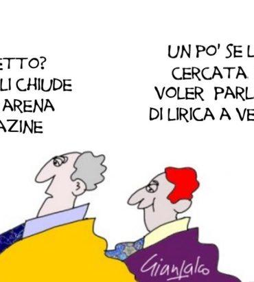 Lirica a Verona: guai a riempire i vuoti a perdere!