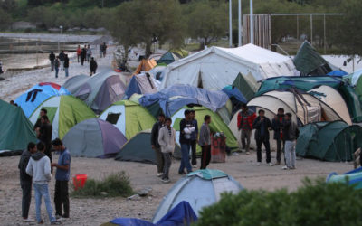 Migranti a Lesbos