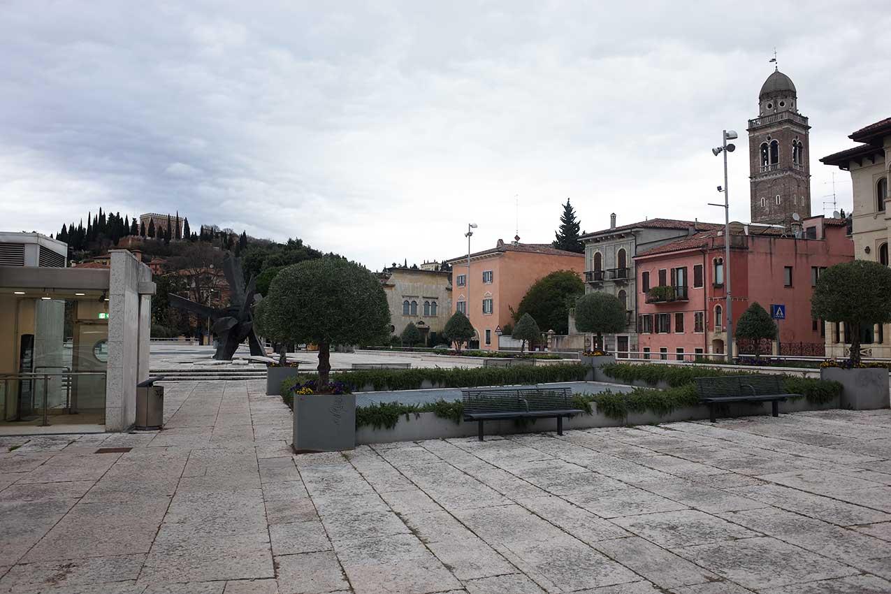 Piazza Isolo (foto Verona In)