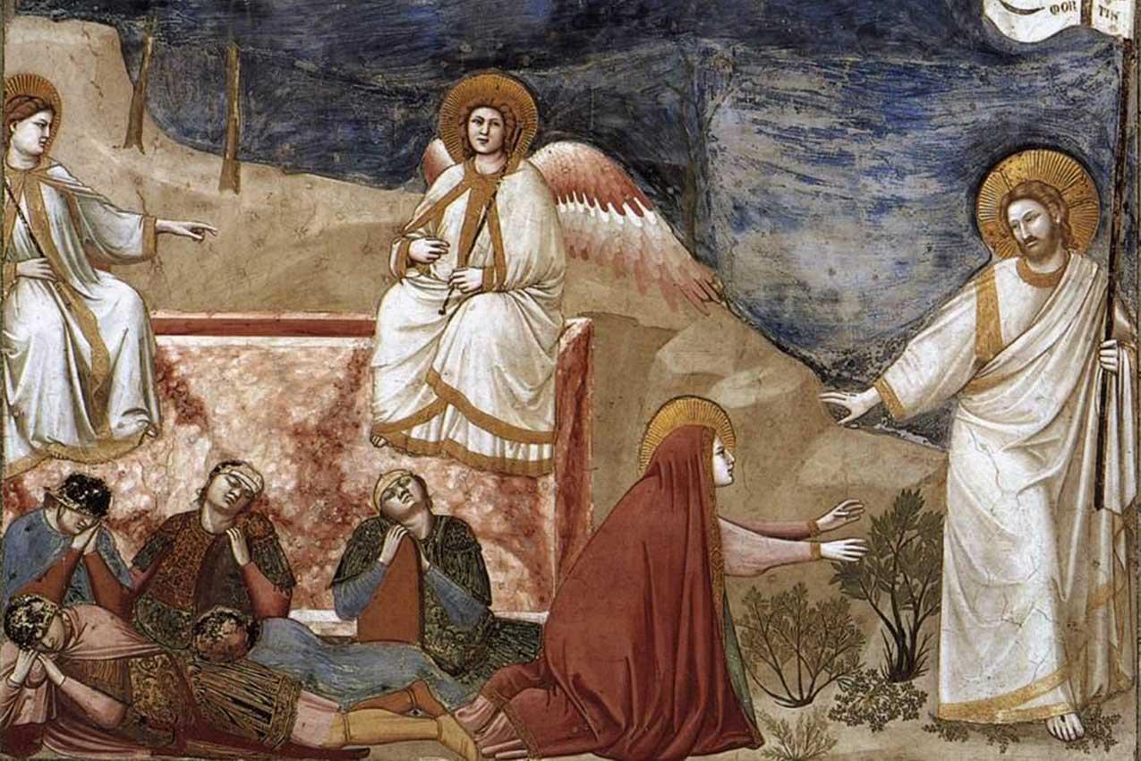 Resurrezioni e Noli me tangere, Giotto, 1303-1305, Cappella degli Scrovegni, Padova