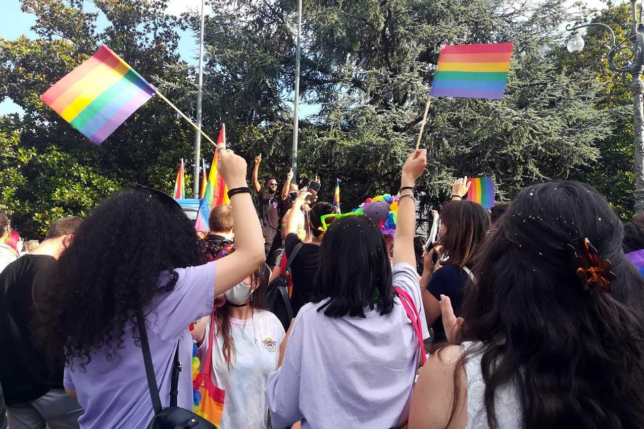 18 luglio 2020, Gay pride, piazza Bra, Verona