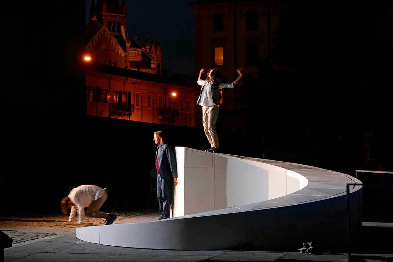 Alessandro Anderloni recita Dante, Purgatorio, Dogana di fiume (Foto Flavio Pettene)