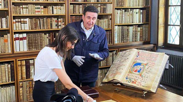 Roberto Giacobbo alla Biblioteca Capitolare di Verona