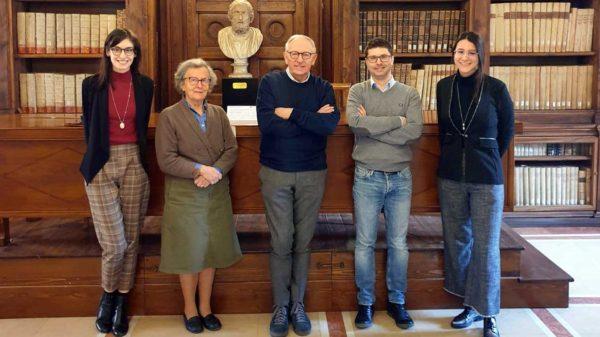 Valeria Nicolis, Claudia Adami, mons. Bruno Fasani, Ilaria Ferrari, Timoty Leonardi
