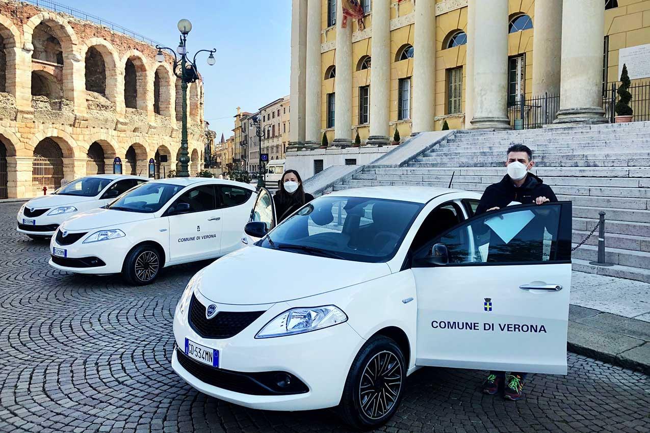 Le prime 6 auto ibride del Comune di Verona